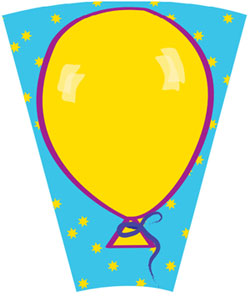 Balloon Template for 12-Slot Prize Wheel