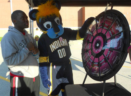 The Prize Wheel and Team Mascot