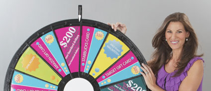 Check out this Big Prize Wheel