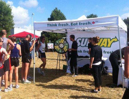 Subway's Prize Wheel drew a crown at this 10K run.