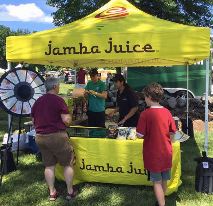 Prize Wheel from Jamba Juice attracts kids and adults