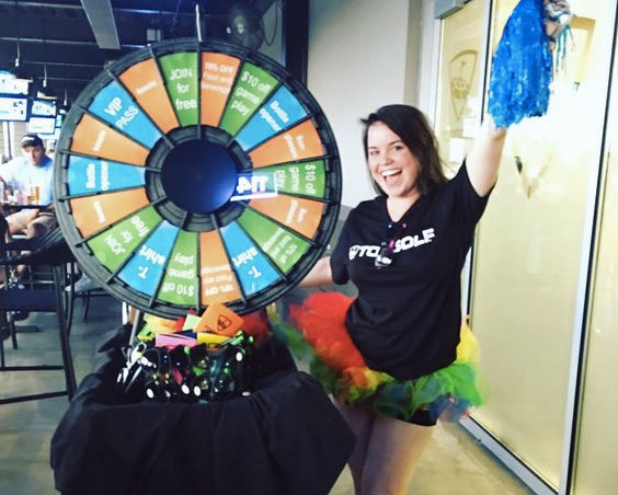cheer for the Prize Wheel