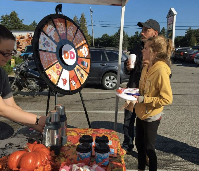 Prize Wheel spinner wins $10 gift card