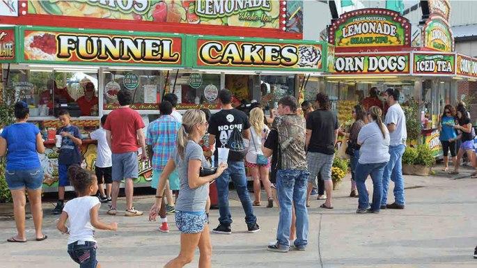lots of food at the fair