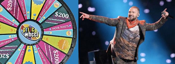 Justin Timberlake Says 'Spin the Wheel' – Customizable Prize